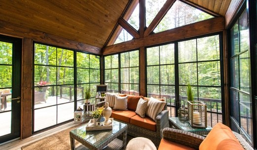 Rustic Sunroom Windows